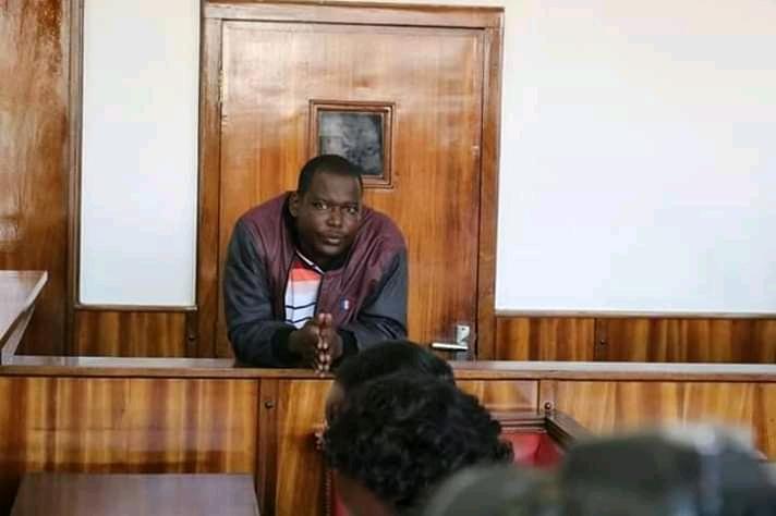 Bajjo appearing in a court dock