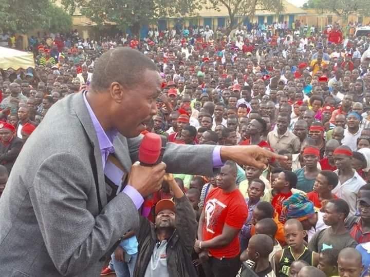 mugisha muntu campaigining for a joint candidate Nyakato in hoima